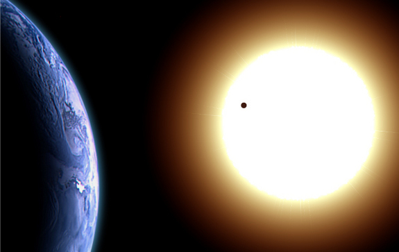 Venus Transit over Sun [image from www.space.com]