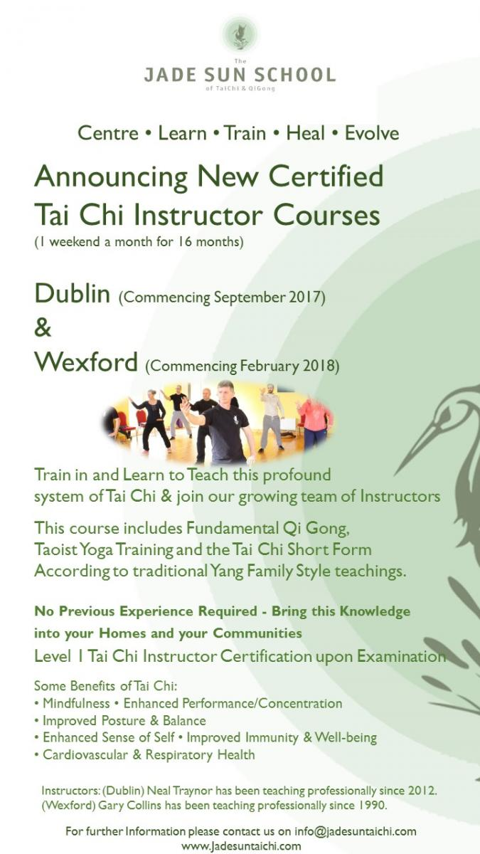 Tai Chi Instructor Training Course Dublin Network Ireland